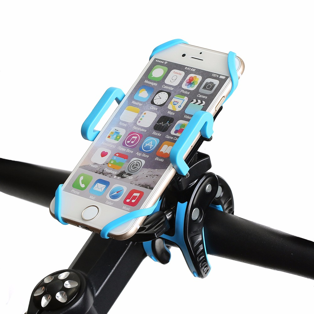 BlitzWolf® BW-MH2 Heavy Duty Bike Phone Mount Holder with Tight Rubber Band & 360 degree Rotate