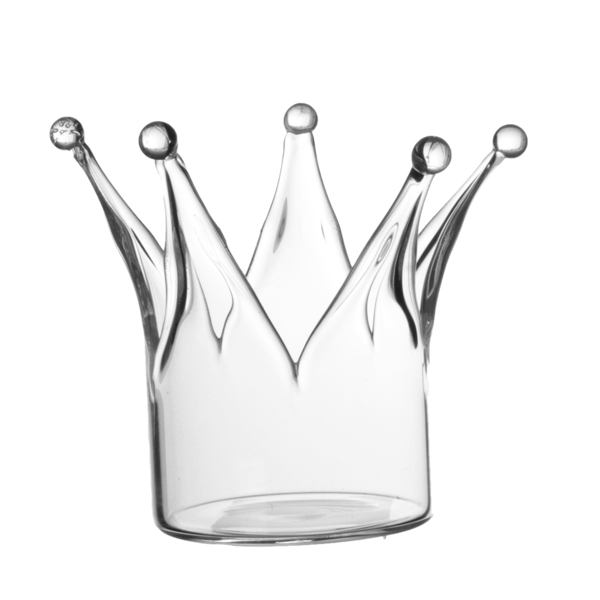 Crown Glass Candle Holder