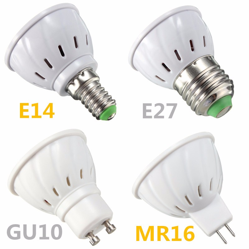 GU10 5W COB LED Spotlight Bulb Lamp Energy Saving High Brightness Warm White Black 85-265V