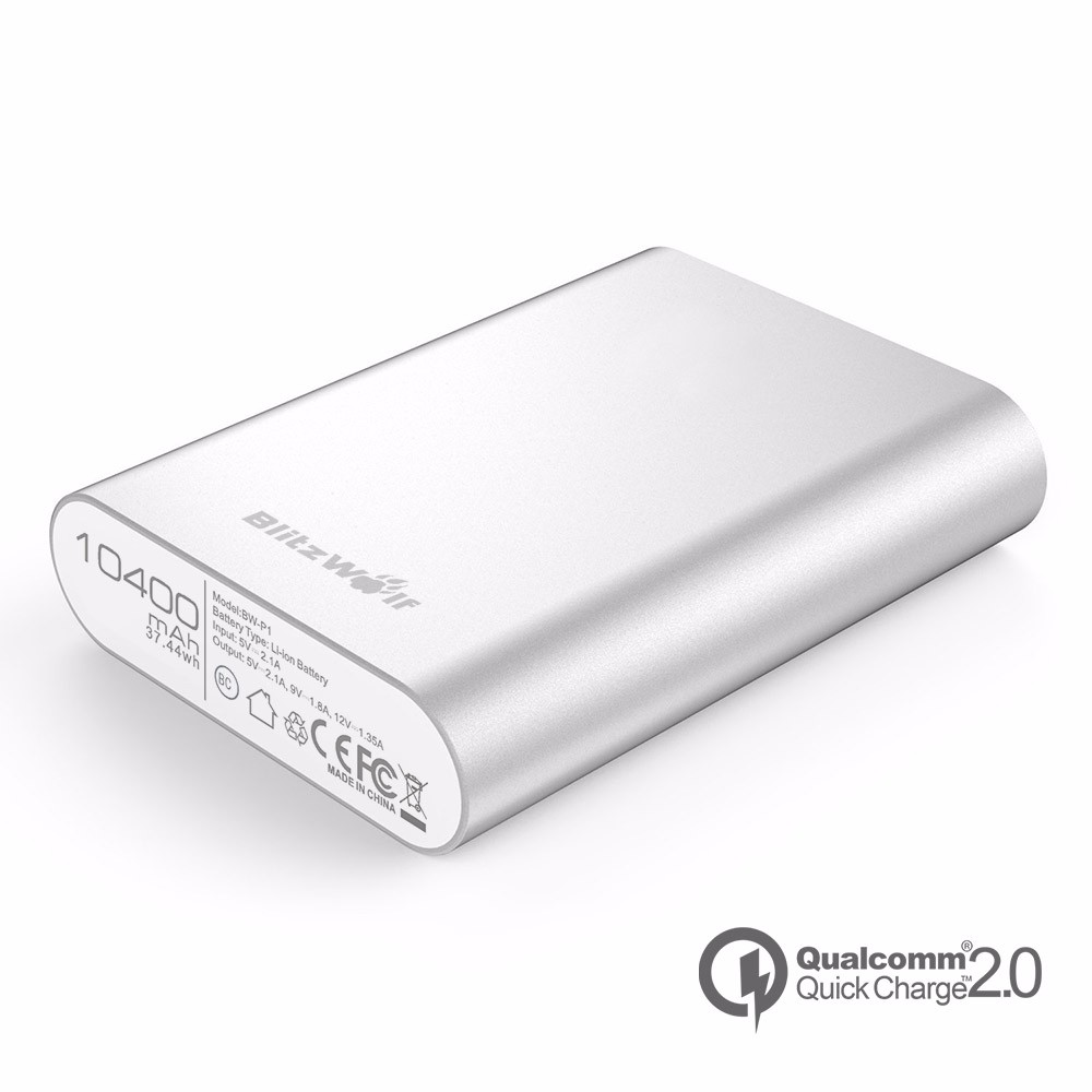BlitzWolf® 10400mAh QC2.0 Quick Charge Power Bank