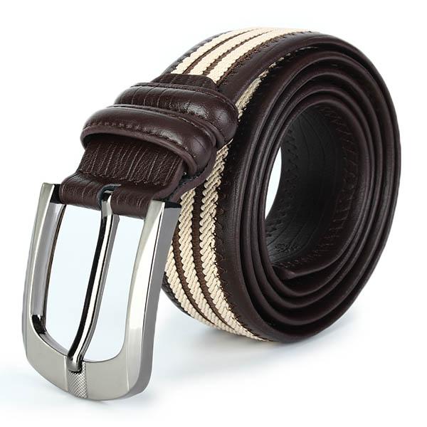 Men Canvas Striped Belt Cowkin Retro Casual Soft Adjustable Pin Buckle Belt цена и фото