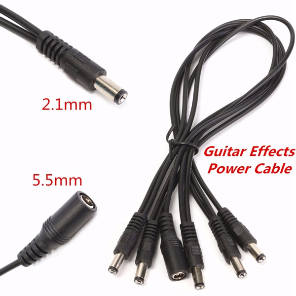 Guitar Power Cable : Way v guitar effects pedal daisy chain power supply