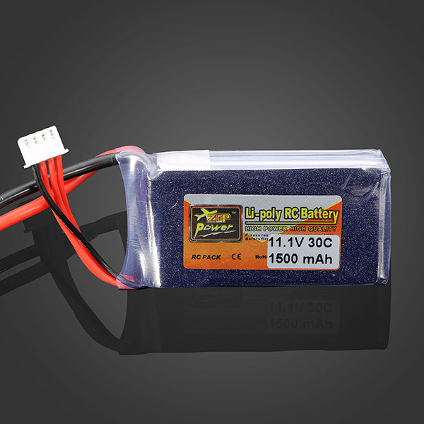 ZOP Power 11.1V 1500mah 30C Lipo Battery EC3 Plug 1pcs lion power 2s 7 4v 5200mah 30c lipo battery pack for rc car buggy monster truck backup li po battery