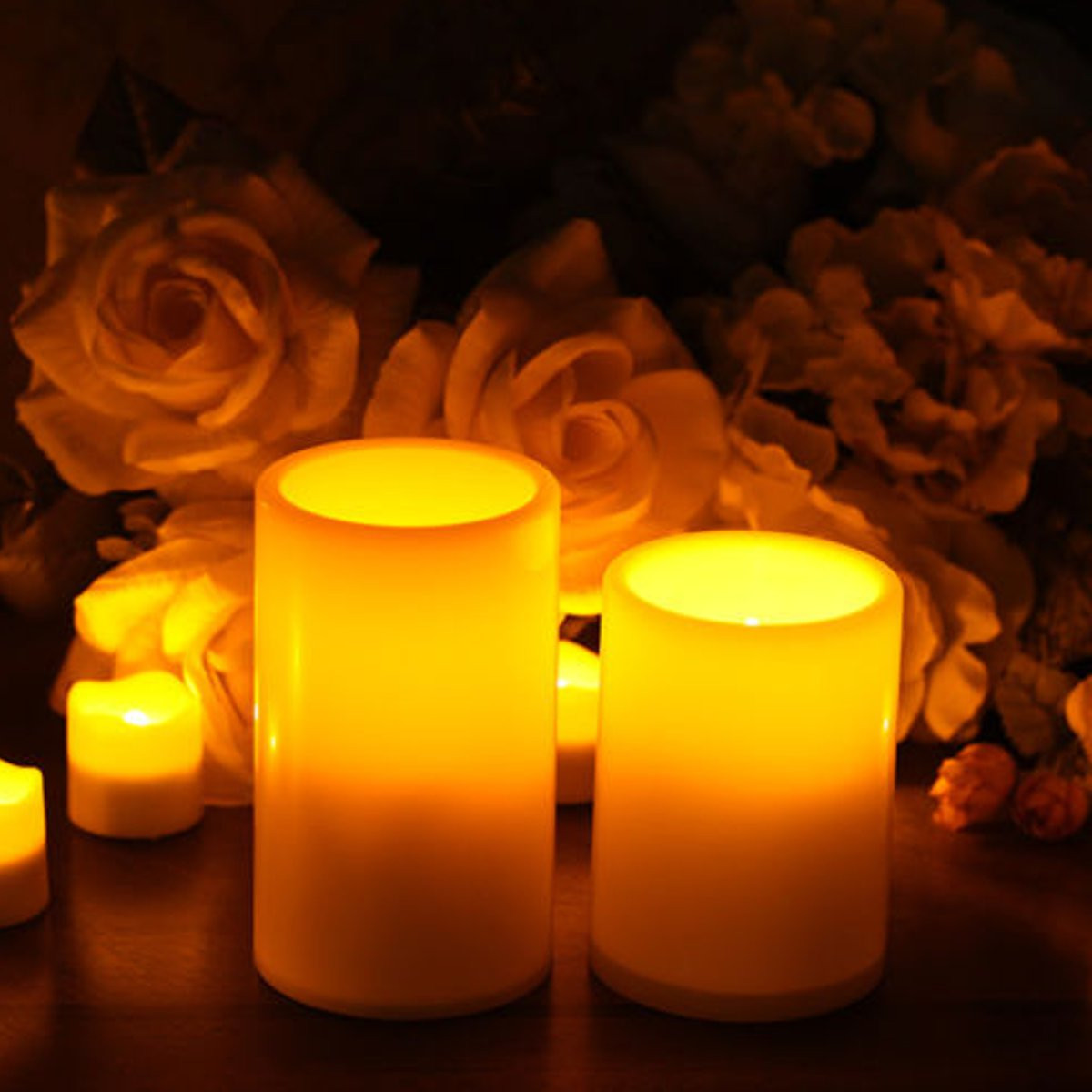 Battery powered flameless led candle flickering tea light christmas wedding home decor alex nld - Appealing christmas led candles for christmas decorations ...