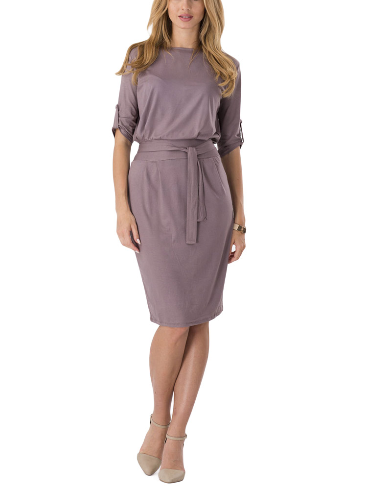 Coffee Belt Women Pencil Dress