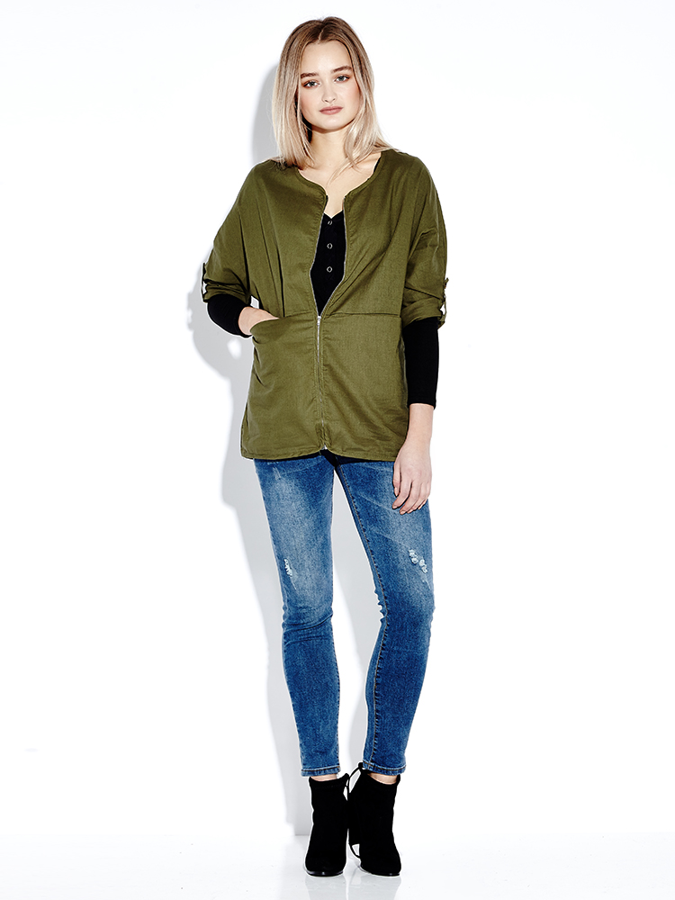 Casual Long Sleeve Solid Color Pocket Women Coats