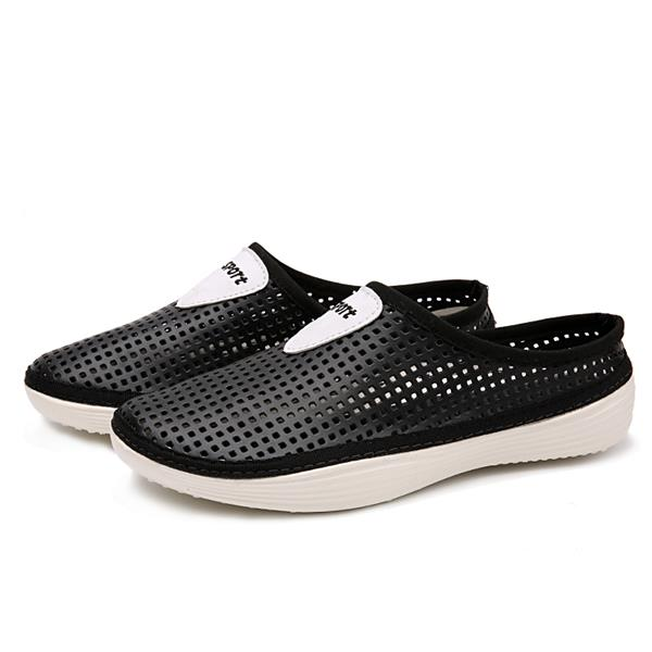 Men Slip Engrener Sur Sandales Chaussons Cool Respirants