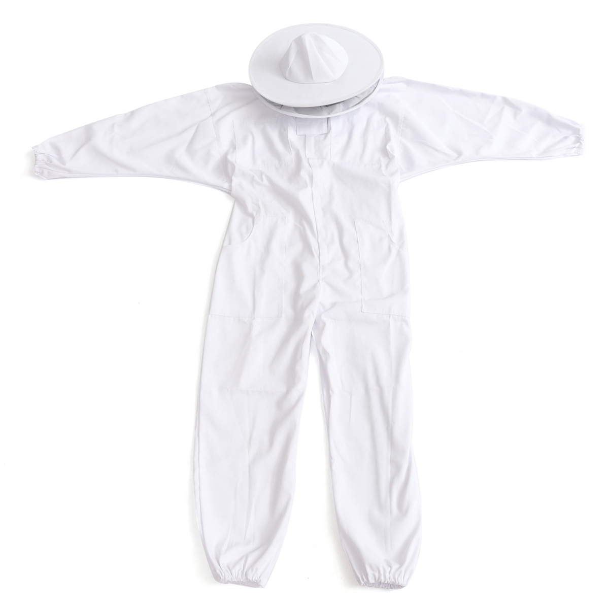 Beekeepers Bee Keeping Cotton Full Protector Suit With Veil Hat Hood Bee Suit XL XXL XXL 38