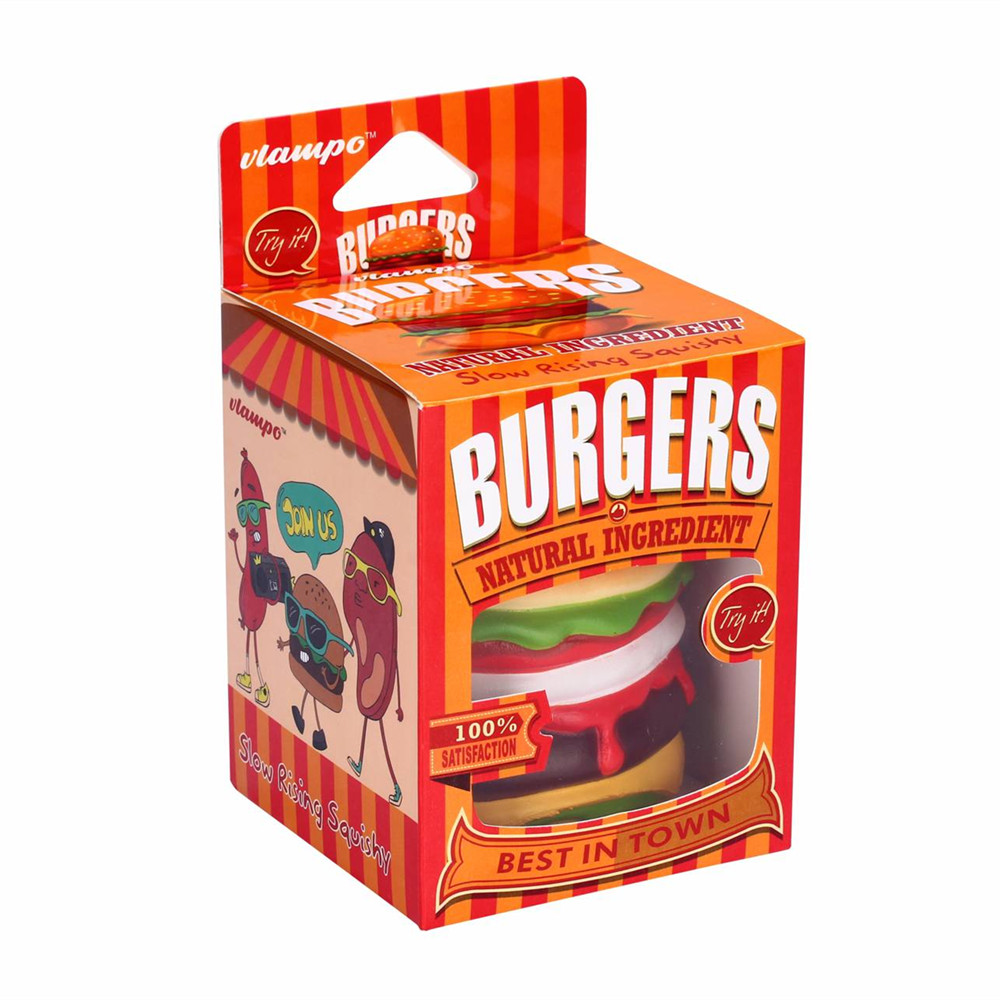 Squishy Bread Collection : Vlampo Squishy Burger Hamburger Slow Rising Original Box Packaging Bread Collection Toy Decor ...