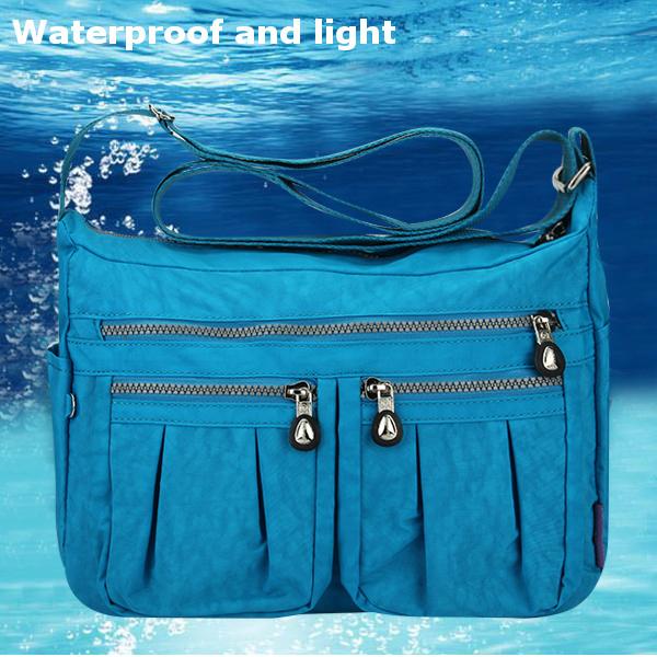 女性ナイロン軽量バッグカジュアル屋外防水ショルダーバッグクロスボディバッグ