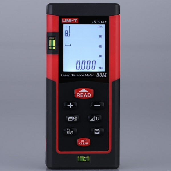 UNI-T UT391A+ 80M Digital Laser Distance Meter RangeFinder Measure Area Volume Self-calibration Level Bubble от Banggood INT