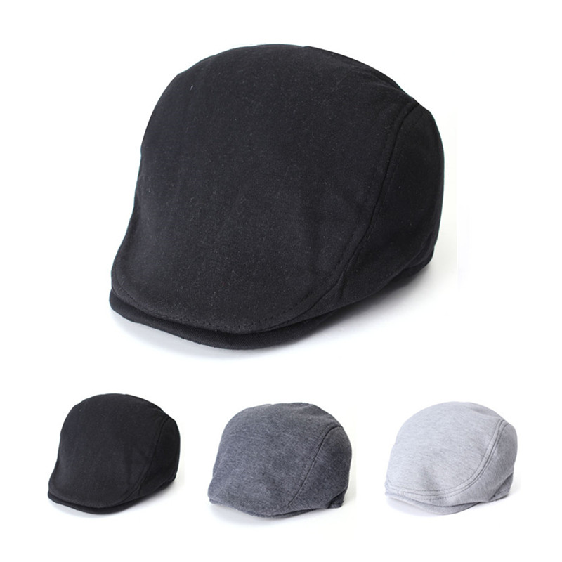 Unsiex Men Women Cotton Blend Beret Cabbie Newsboy Flat Hat Golf Driving Sun Cap men male wool blend newsboy beret cap grid blank thick flat cowboy cabbie hat