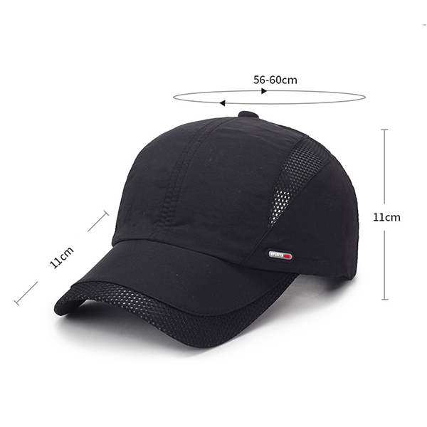 Mens Summer Mesh Quick-dry Breathable Visor Baseball Cap