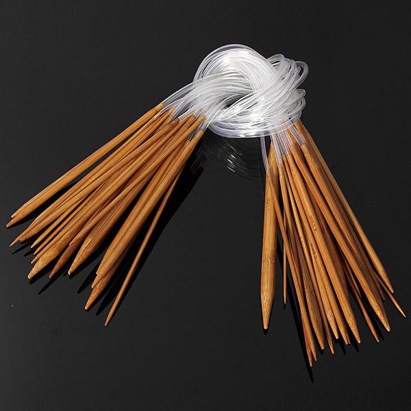 Knitting Needle Size For Scarf : Sizes cm carbonized bamboo circular knitting needles