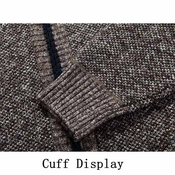 Casual Thick Sweaters Cardigan Mens Warm Knitting Cashmere Sweaters Coat