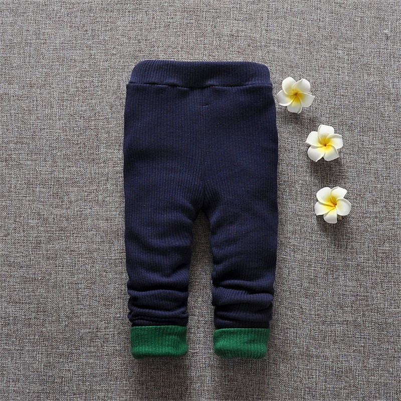 Baby Kids Girls Pure Color Thick Warm Leggings
