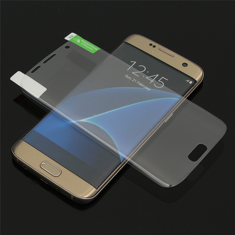 2 Pcs PET Clear Anti-scratch Anti-fingerprints Screen Protector for Samsung Galaxy S7 Edge G9350