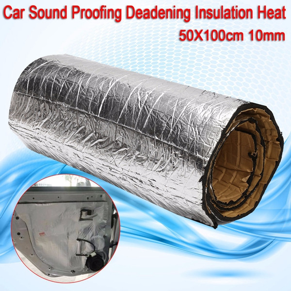 firewall sound deadener car heat shield insulation deadening material mat usa ebay. Black Bedroom Furniture Sets. Home Design Ideas