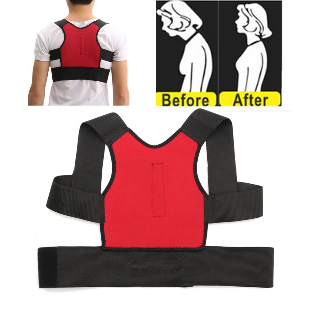 Buy Unisex Back Support Posture Corrector Lumbar Correction Shoulder Brace Belt