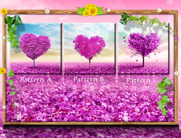 Purple Love Tree Diamond Painting