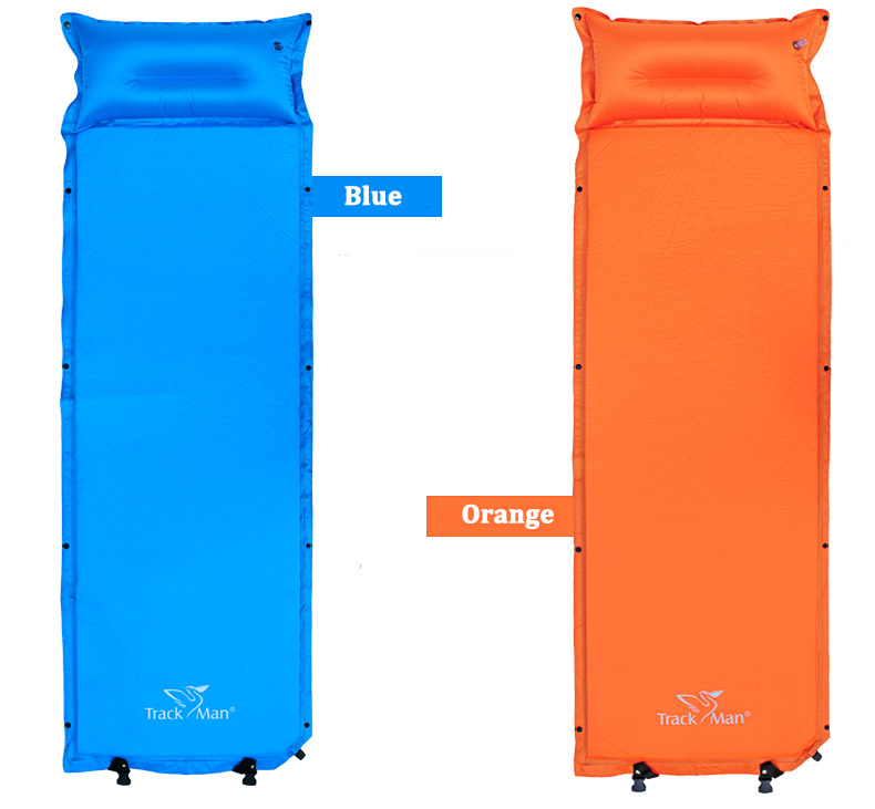 Trackman TM2213 Single Automatic Inflatable Air Mattress Camping Moisture-proof Pad With Pillow
