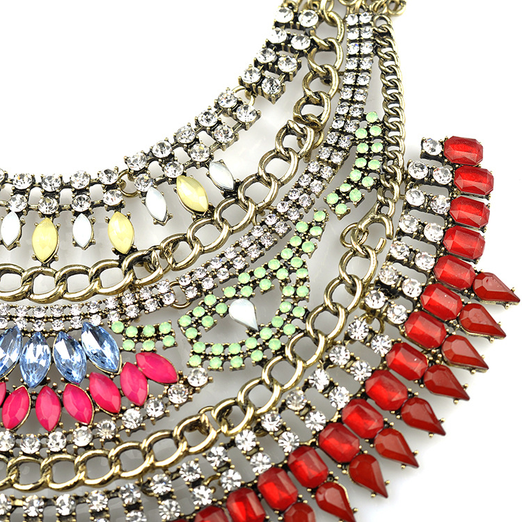 Multilayer Crystal Necklace