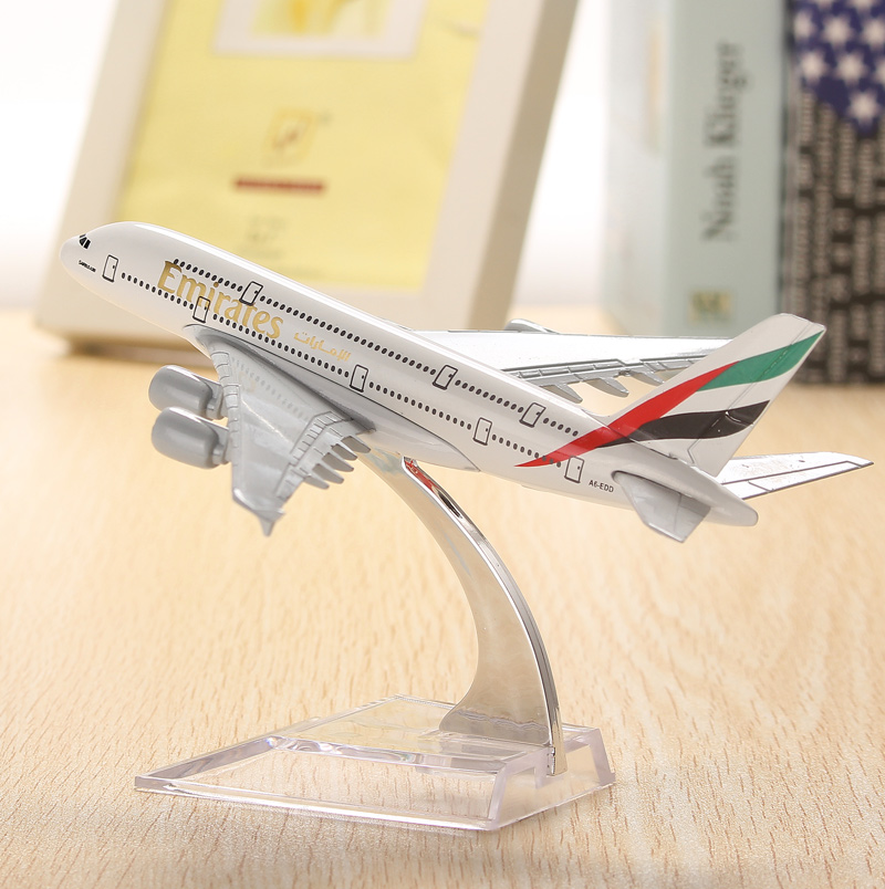Buy WH A380 Emirates Aircraft Model 16cm Airline Airplane Aeroplan Diecast Collection Decor