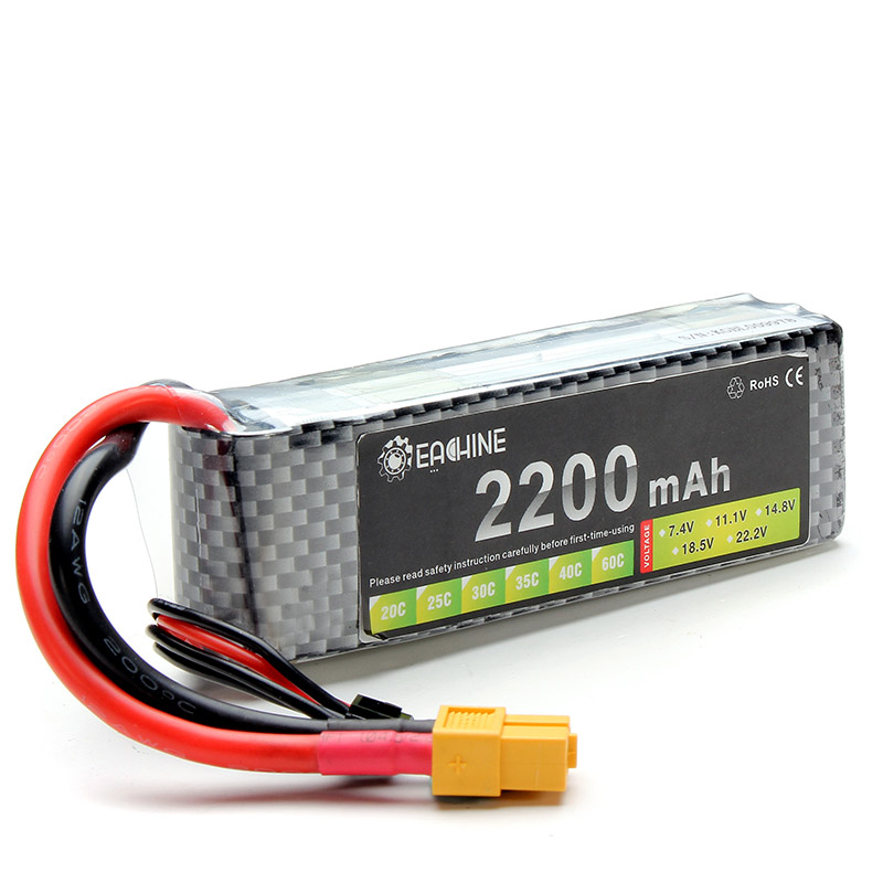 все цены на Eachine 11.1V 2200mAh 3S 35C XT60 Lipo Battery For RC Multirotors