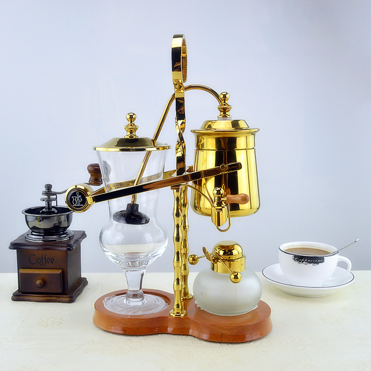 Siphon Coffee Maker Nz : Gold Belgian Luxury Royal Family Siphon Coffee/Tea Pot Maker eBay