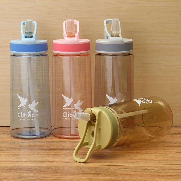 Fashion Multi-color Light Nozzle Plastic Portable Leak-Proof Sports Space Cup