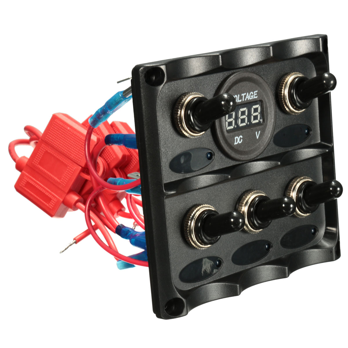 Caravan Rv Boat Marine 5 Gang Led Toggle Switch Panel