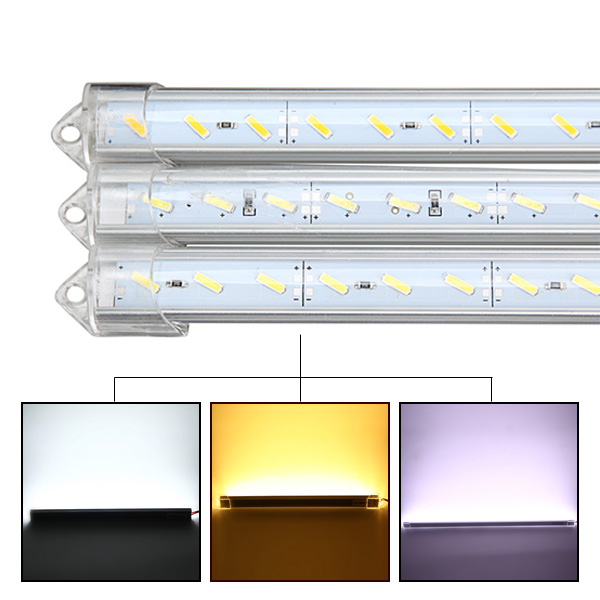 50cm 9W 1800lm 36 SMD 7020 Waterproof IP44 LED Rigid Strip Cabinet Light DC 12V 4w 300lm 3000k 16 x cob led warm white light source module strip silver yellow dc 12 14v
