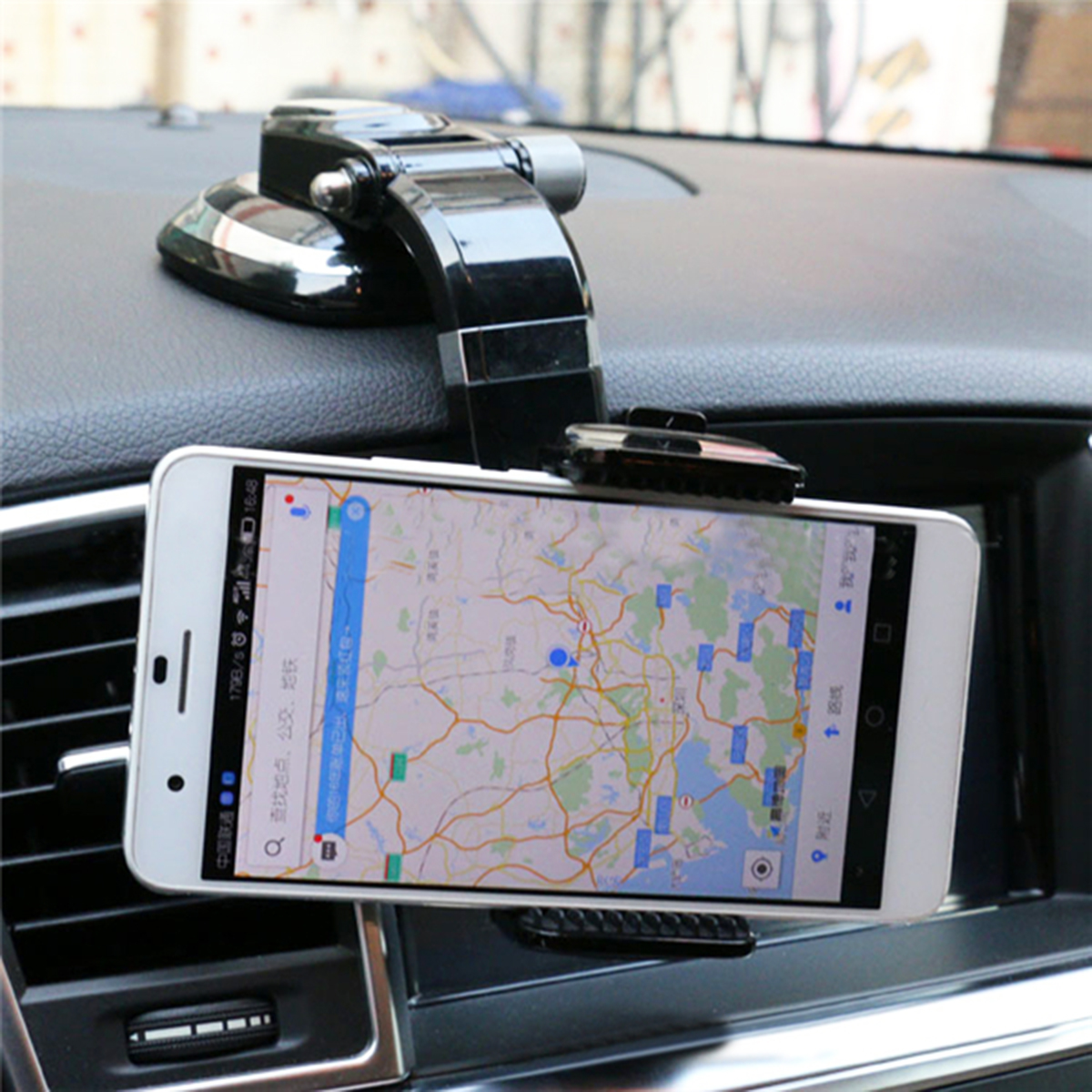 90 Rotation Car Windshield Dashboard Sucker Cup Phone Stand Mount Holder For Smartphone