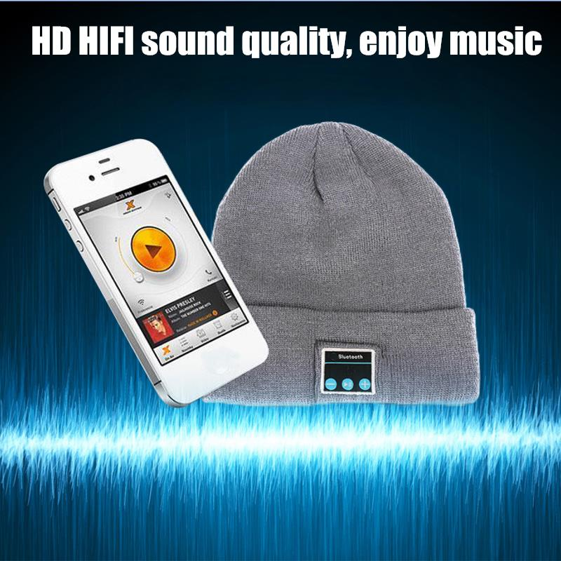 Hat Wireless Bluetooth Smart Cap Headset Headphone Earphone Speaker With Mic