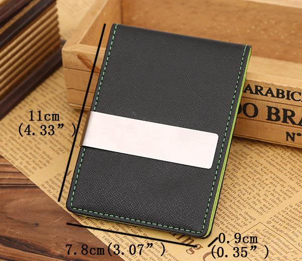 クリエイティブなお金のクリップの男性PU財布軽いカラフルな財布