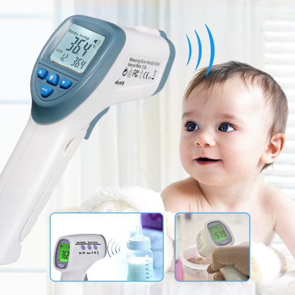 Infrared Baby Kid Digital LCD Thermometer Non contact Handheld Body Surface Temperature excel dt9205a 3 lcd digital multimeter black orange 1 x 6f22