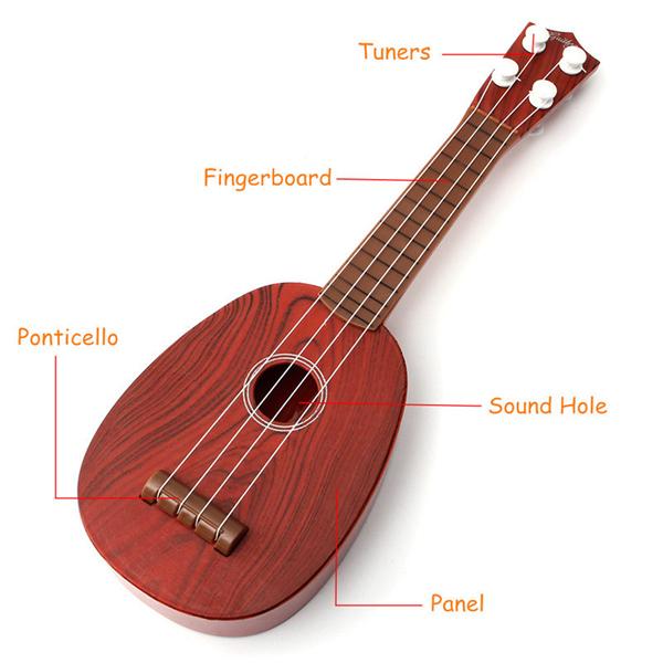 4 string plastic ukulele guitar kid education musical toy for children practi. Black Bedroom Furniture Sets. Home Design Ideas