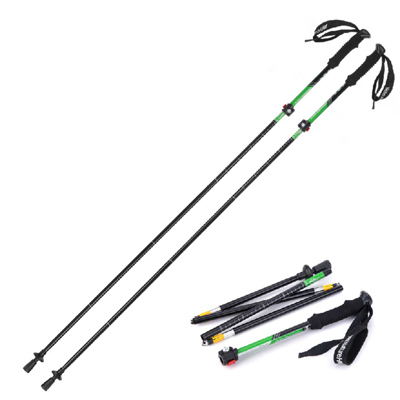 Naturehike Outdoor Folding Alpenstocks Trekking Pole Folding Pole Walking Stick Pole Ultralight