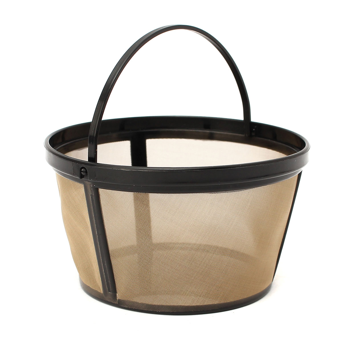 Reusable Gold Coffee Filter Basket for 10-12 Cup Coffee Maker Making Machine Alex NLD