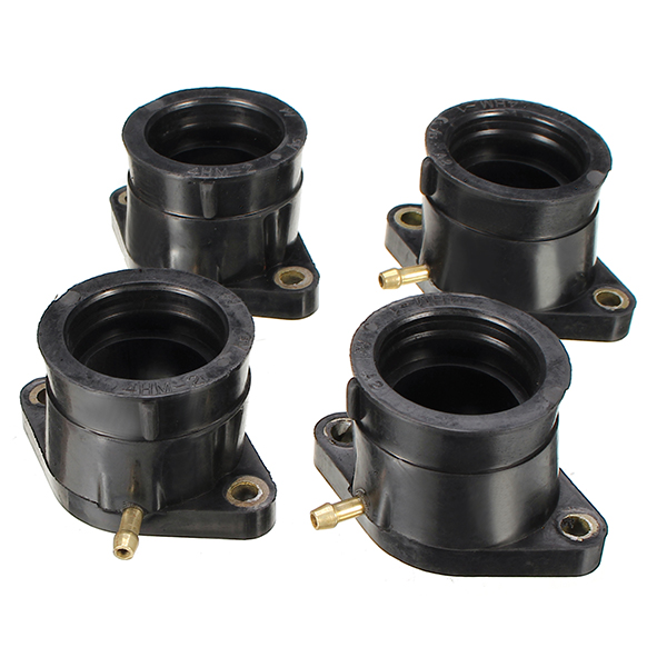 4pcs Motorcycle Carburetor Interface Pipe Adapter Manifold Rubber Gum For Yamaha XJR400