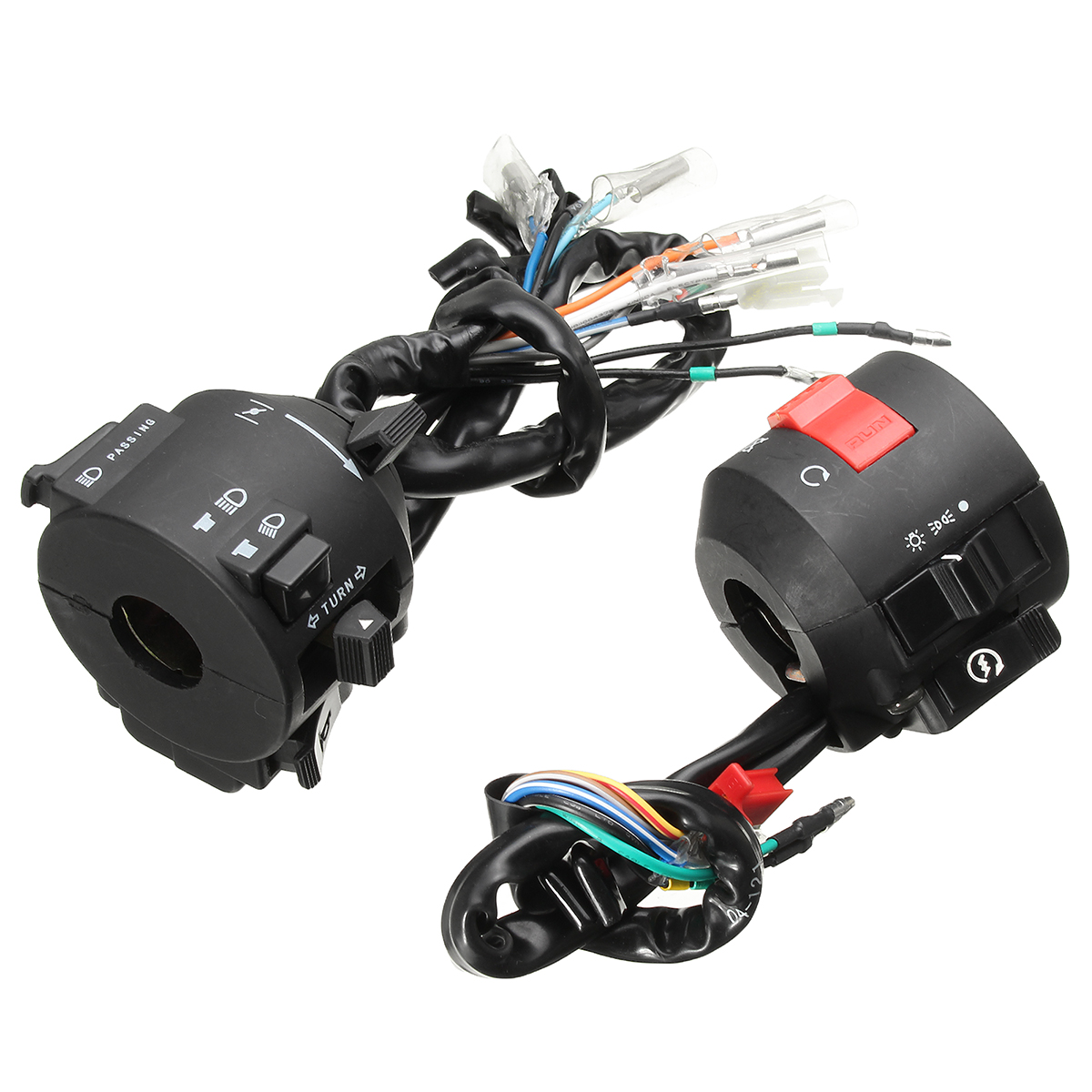 Motorcycle Handlebar Horn Turn Signal Electrical Start Switch 12V For