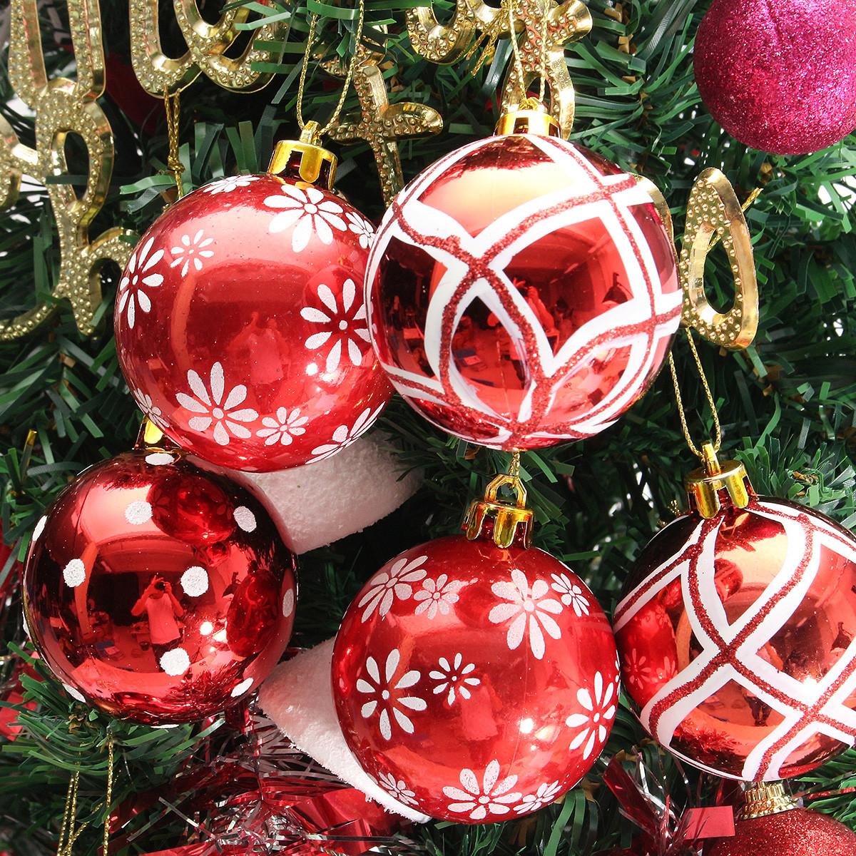 Plastic Christmas Baubles Handmade & Painted Ball Tree Balls Decorations ...