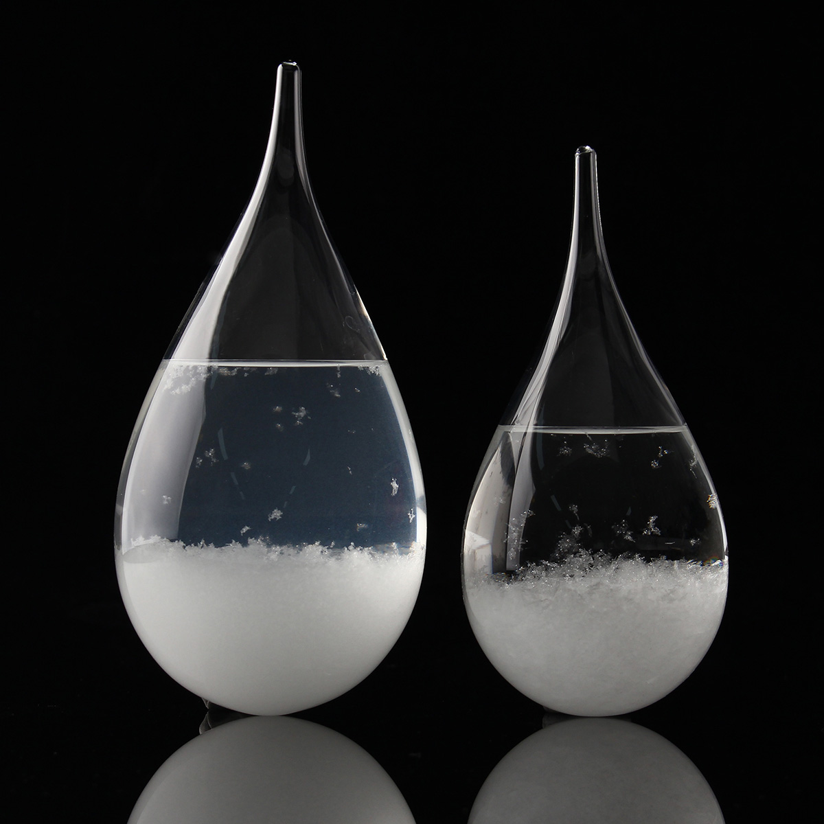 Weather Forecast Crystal Drops Water Shape Storm Glass Home Decor Christmas Gift - Photo: 9
