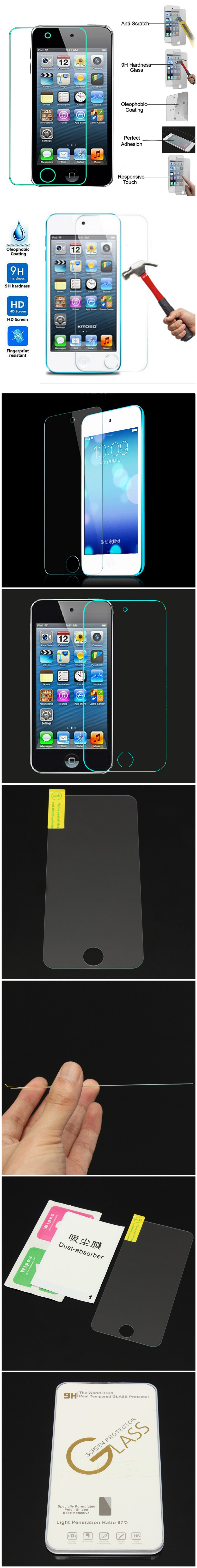 For iPod Touch 5/6 Explosion Proof Tempered Glass Screen Protector Protective Film 5th 6th Gen