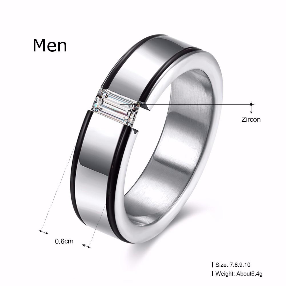 Heart Crystal Forever Love Couple Finger Ring Women Men Jewelry Wedding Birthday Gift