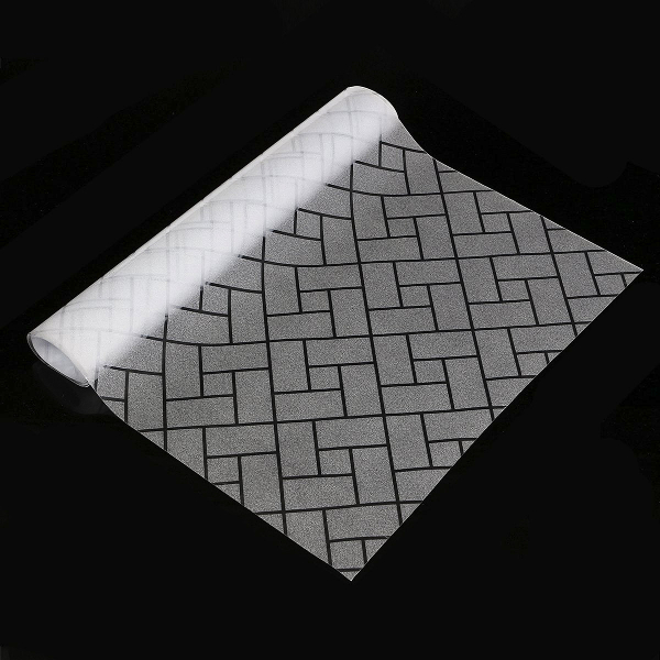 45X200cm Non-adhesive Frosted Glass Film Privacy Lattice Window Static Cling