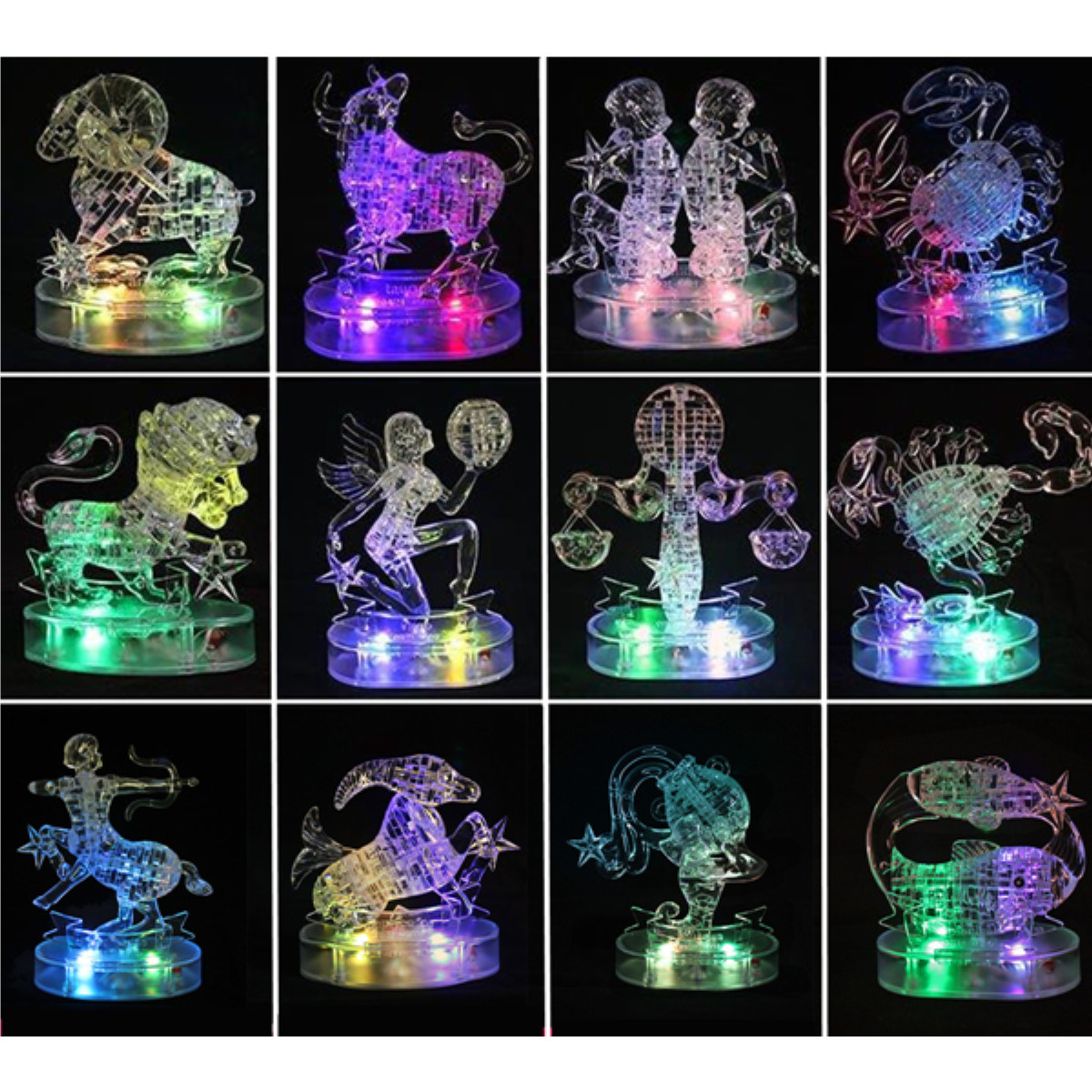 12 Constellations Crystal Puzzles 3D Jigsaw Model DIY Toy Xmas Gift от Banggood INT