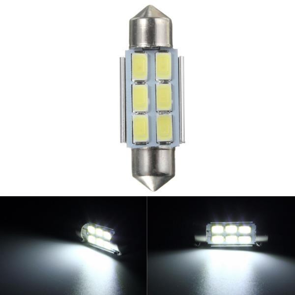 36mm 6SMD 5630 LED C5W CANBUS ERROR FREE festoon dome number side light