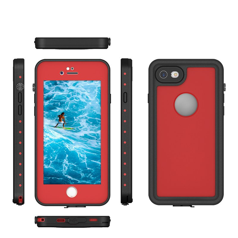 For iPhone 7 PC TPU Dual Protection Waterproof Snowproof Dropproof Dustproof Case Cover