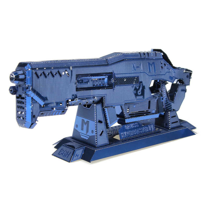 Buy MU BGHN-1 3D DIY Metal Gun Puzzle Blue Model Collection Toy 100*35*15mm